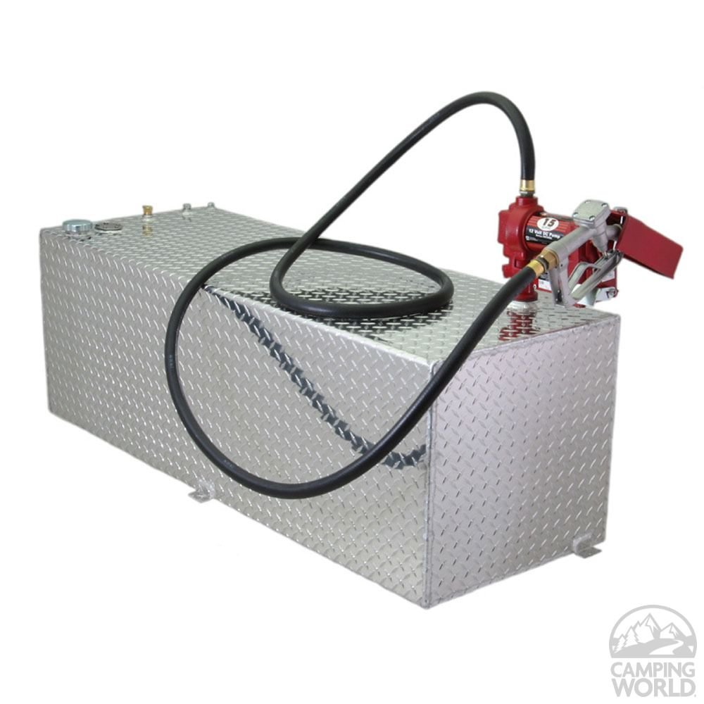 Rds 71212 56'' Length x 13'' Width x 19.25'' Height Rectangular Auxiliary/Transfer Fuel Tank - 60 Gallon Capacity