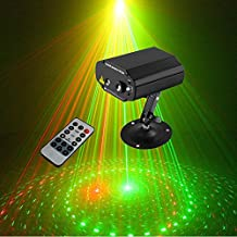 Sumger 8 RG Patterns Led Stage Lighting Effect Laser Projector With Remote Blue Light DJ Disco Bar Home Party Club Lighting