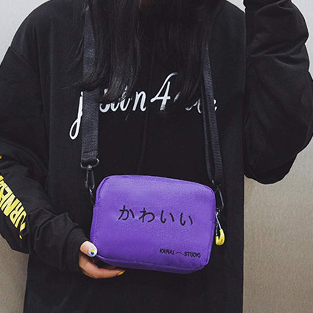 Vacally Women Cute Shoulder Bag Casual Tote Outdoor Bag Canvas Handbag Zipper