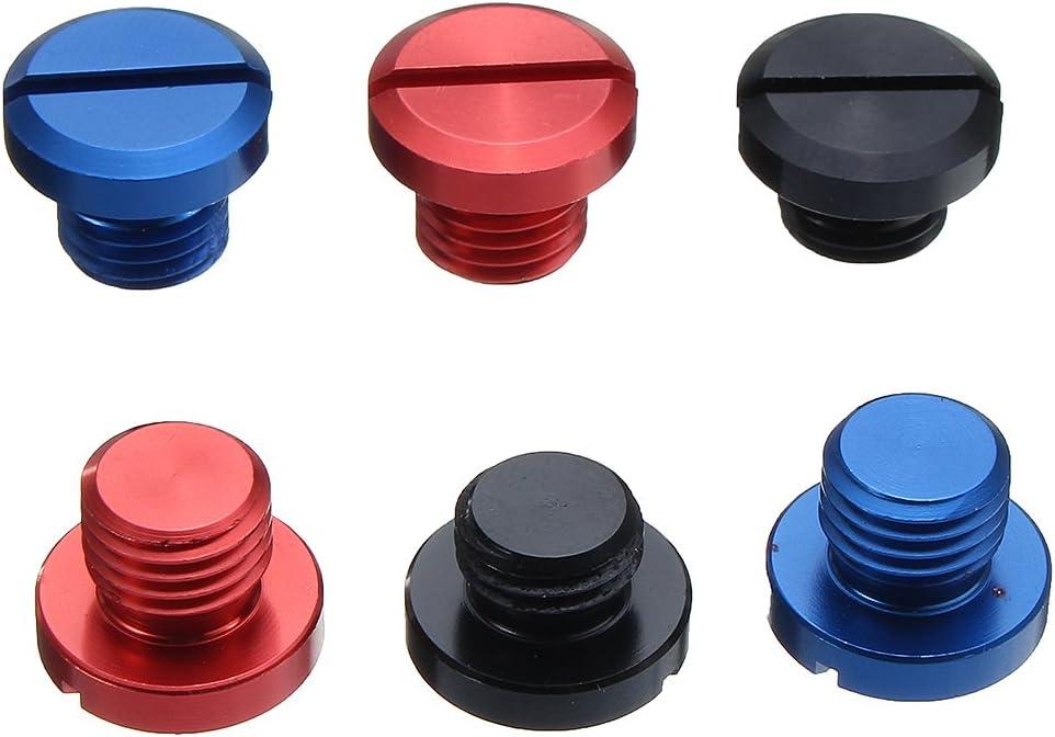 Rojo JenNiFer M10X1.25 Tornillo De Tap/ón De Orificio De Espejo CNC para Honda//Yamaha//Suzuki//Kawasaki