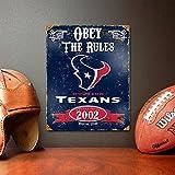 Party Animal NFL Embossed Metal Vintage Houston