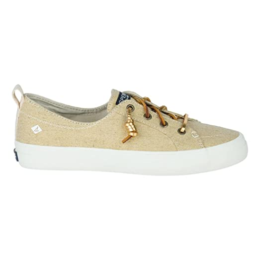 Sperry / Crest Vibe Linen Sneakers / Gold Metallic