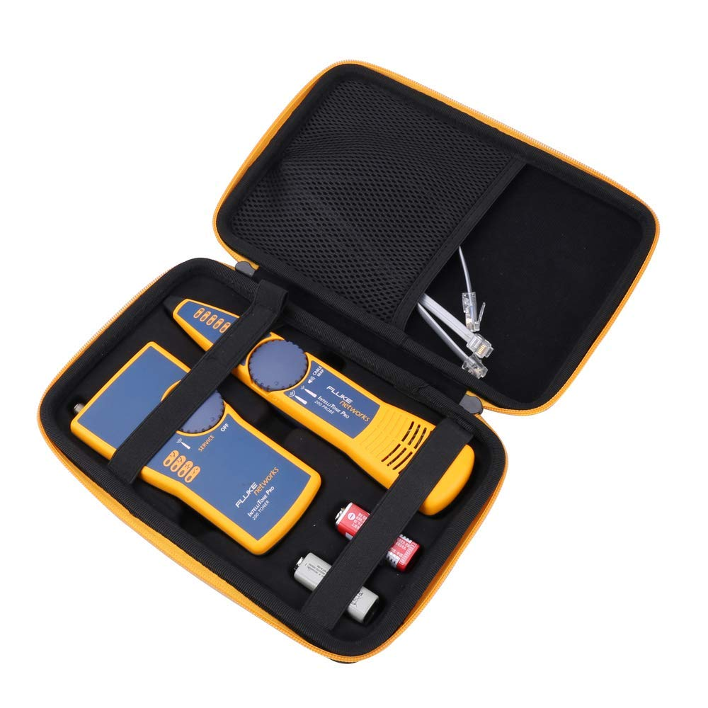 Aenllosi Hard Carrying Case for Fluke Networks IntelliTone Pro 200 Toner and Probe Kit