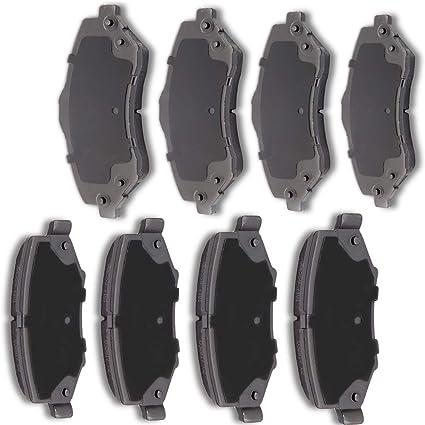 Fits 2008-2011 Dodge Nitro Jeep Liberty Front Rear Brake Rotors Ceramic Pads