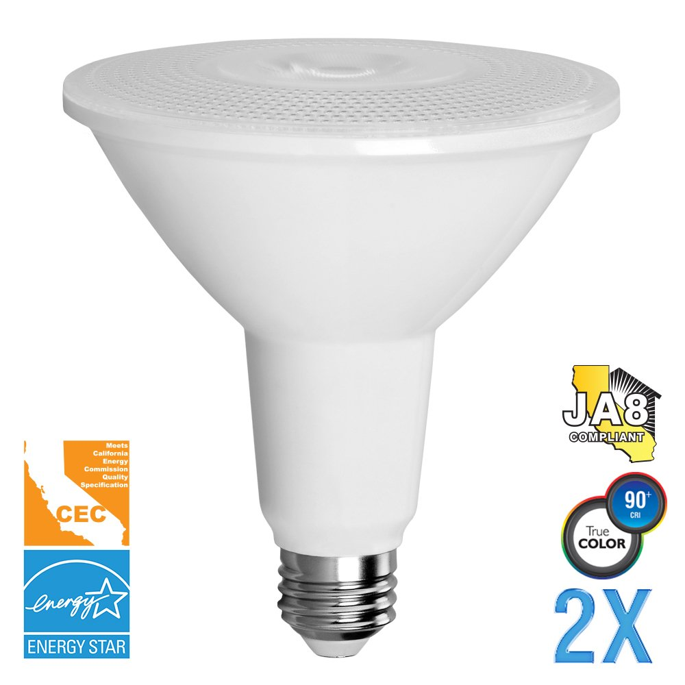 Euri Lighting EP30-4020cecw-2 Long Neck PAR30 Light Bulb, E26 Base, 900 lm, CRI 90+, 2700K, (Pack of 2)
