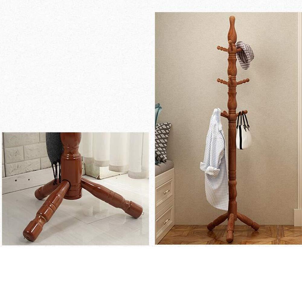 Amazon.com: MEIDUO - Perchero de madera con 9 ganchos para ...