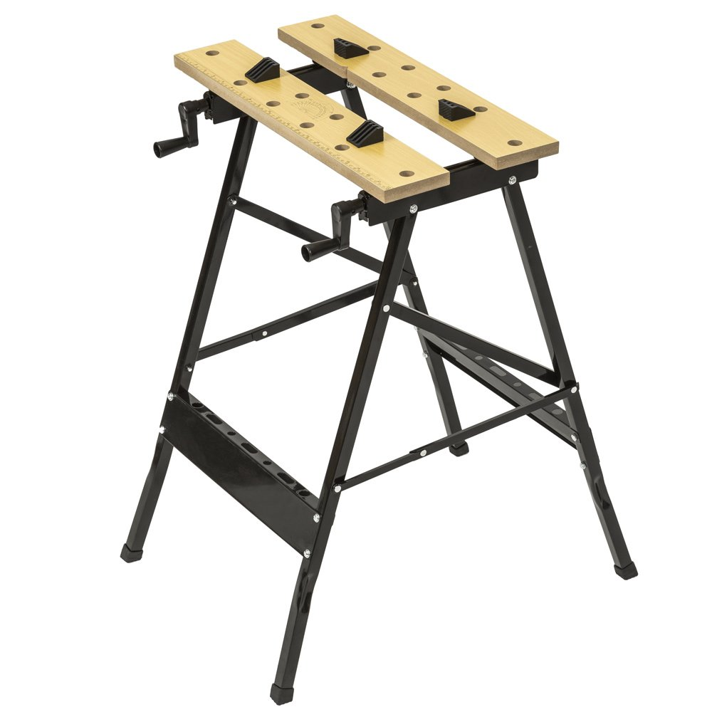 TecTake Workbench Frame Flip Table with Vice