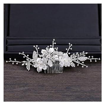 Amazon Com Sienna693 Rhinestones Silver Flower Hair Comb Wedding