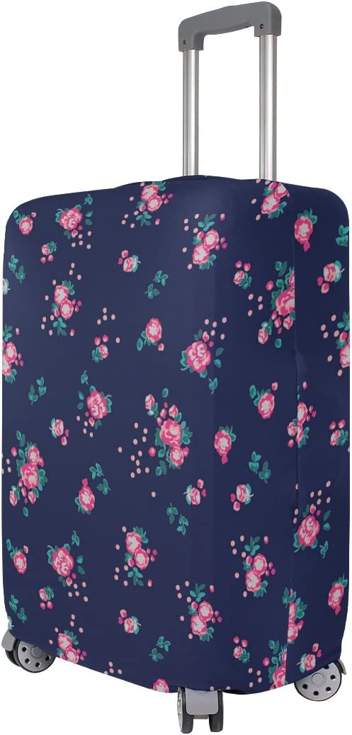 OREZI Luggage Protector Floral Pattern Travel Luggage Elastic Cover Suitcase Washable and Durable Anti-Scratch Stretchy Case Cover Fits 18-32 Inches