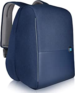 """Anti-theft Laptop Backpack for 15.6"""" Notebook Business Backpack for Men Women with USB Charging Port and FRID Protection, Blue"""