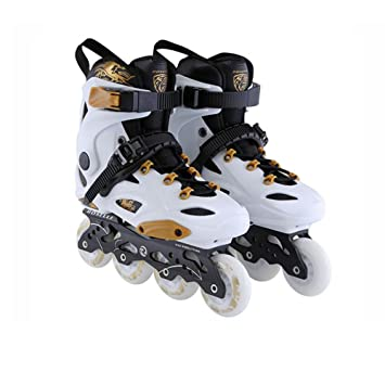 Sunkini Skates Adult Inline Skates Skating Shoes for Men and Women PP Material ABEC 9 Bearing Travel Urban Outdoor Use,White