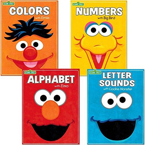 Sesame Street Workbooks Preschool (Set of 4 Workbooks -- Alphabet with Elmo, Letter Sounds, Numbers and -