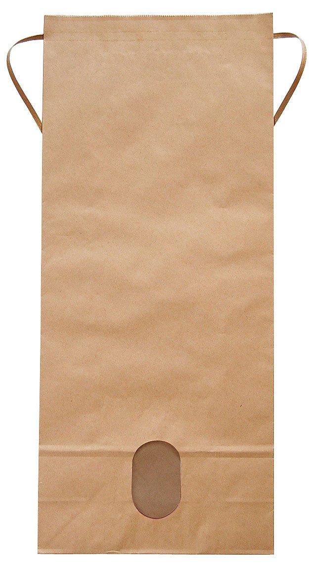 マルタカ クラフト 無地 窓付 角底 10kg用紐付米袋 100枚セット B003H9TPDY  100枚入り 10kg用米袋
