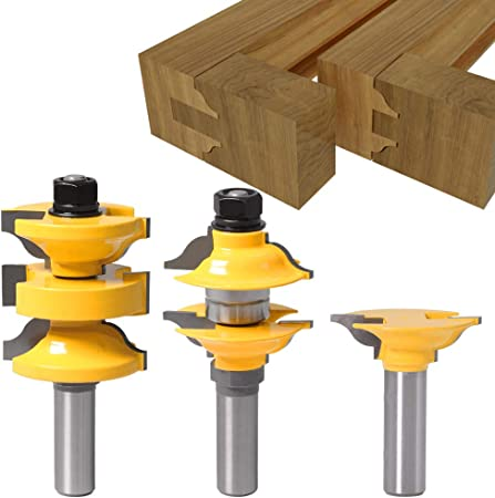 Router Bits Handrails Cutter RAIL AND STILE BITS 1//4/'/' Shank T-type