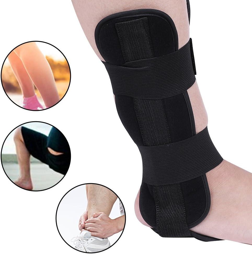 Tobillera, Ortesis de tobillo de pie transpirable Protección de soporte de tobillo con laterales estabilizadores y fijación auxiliar(M)