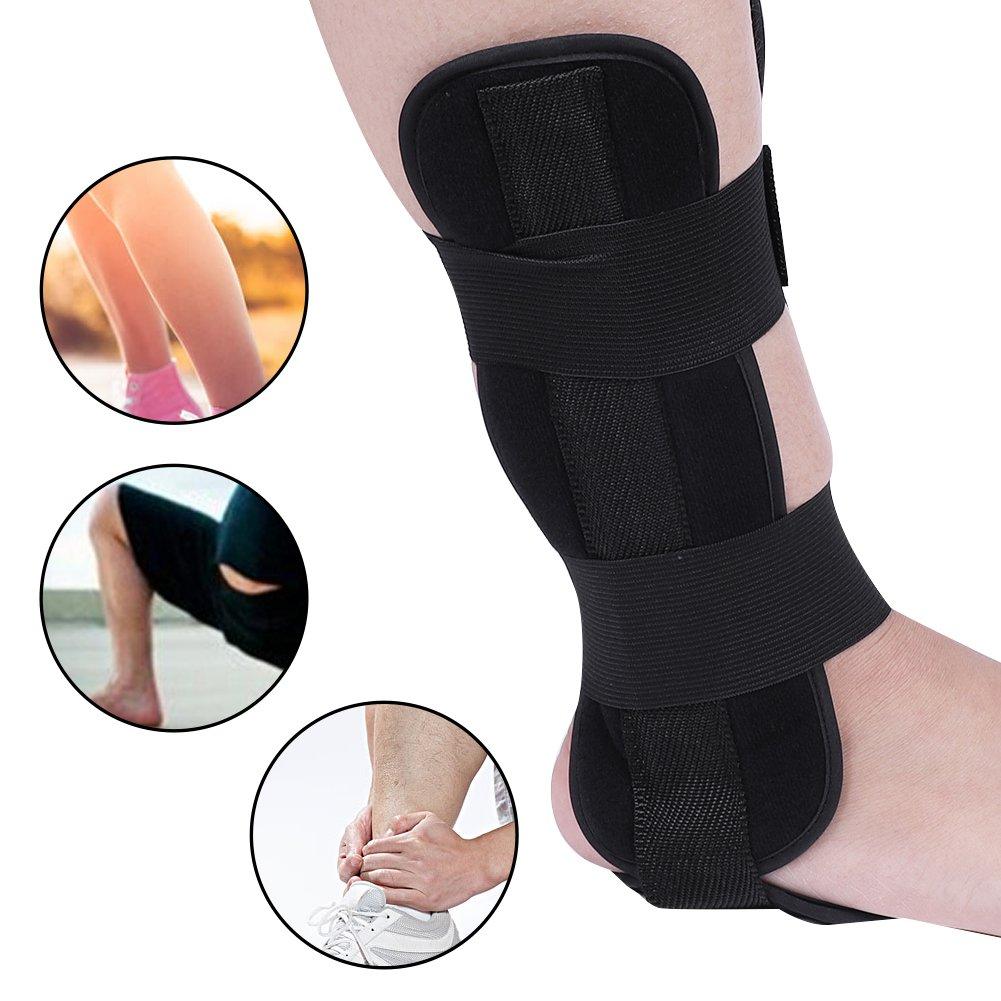 Ortesis de tobillo de pie transpirable Protección de soporte de tobillo Protección de soporte Esguince férula Artritis recuperación(L) Yotown