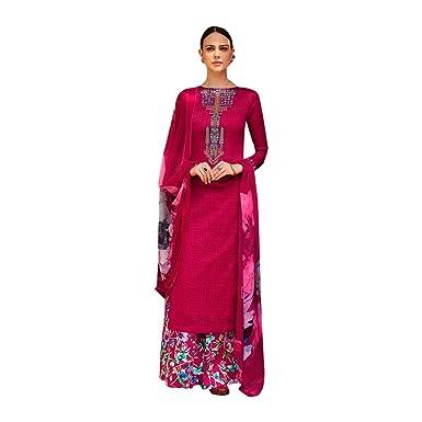 ETHNIC EMPORIUM Designer Traje DE Salwar Recta Bollywood ...