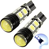 SODIAL(R) 2x T10 194 168 501 W5W 5050 LED 8 SMD 1.5W Canbus AMPOULE LAMPE Anti Erreur ODB voiture