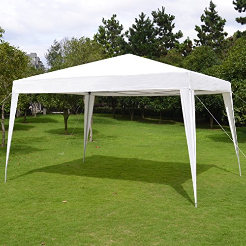 BenefitUSA EZ POP UP Folding Gazebo 10'X13' Wedding Party Tent Camping Canopy W/Carry Bag (Coating Powder Palm Springs)