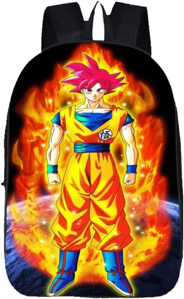 Weeck Anime Dragon Ball Z Goku Cosplay Backpack Bookbag Laptop Bag School Bag (6)