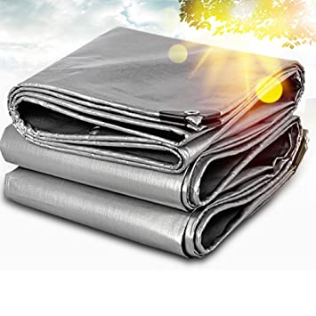 Toldo Lona Cobertizo Impermeable Espesar Recubierto de Plata Protector Solar Ligero Sombra De Sombra-Espesar