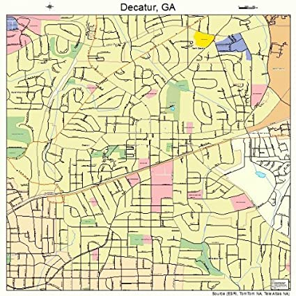 Amazon Com Large Street Road Map Of Decatur Georgia Ga Printed