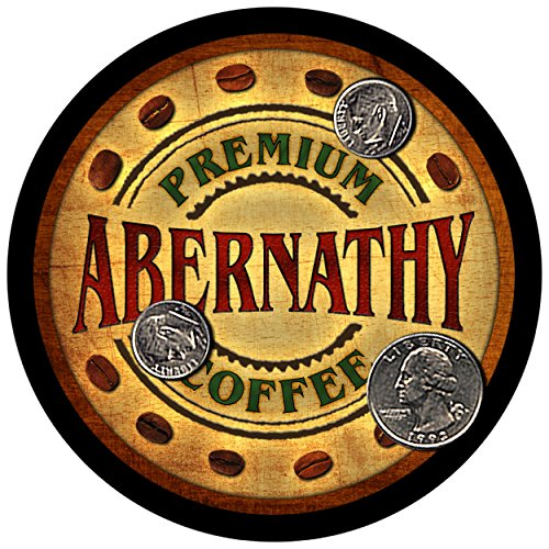 Abernathy Family Coffee Rubber Drink Coasters - Set of 4