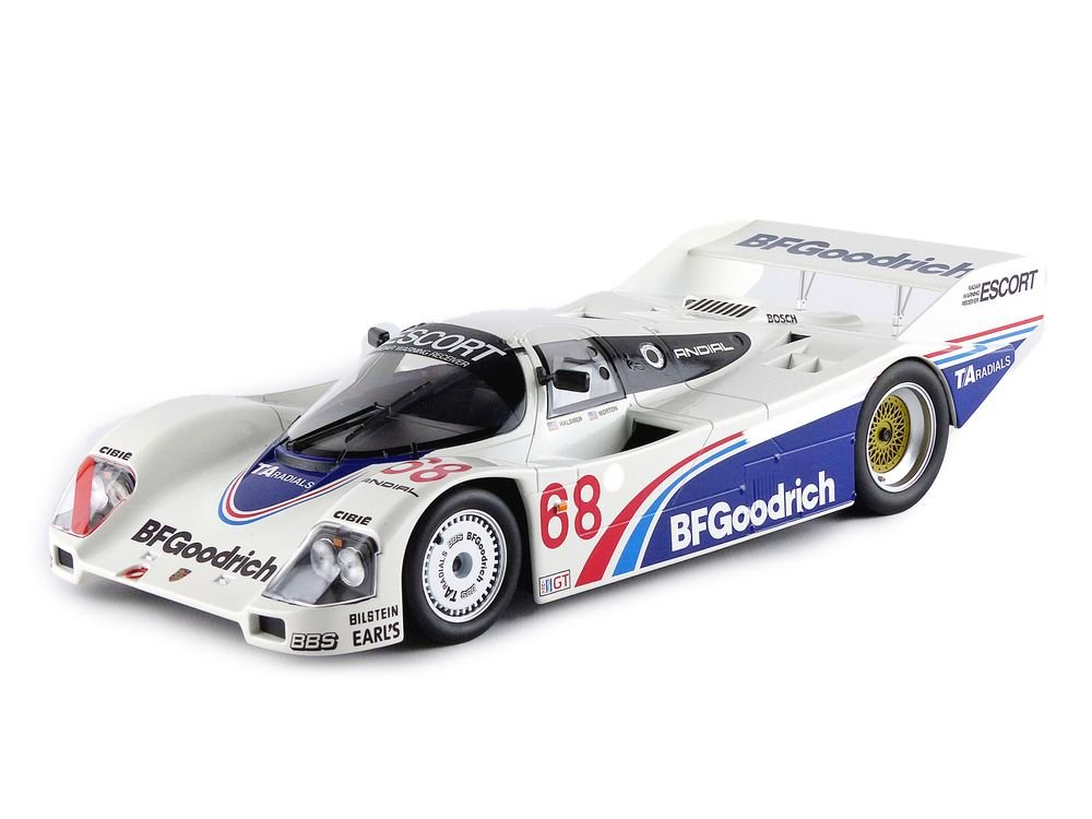 Porsche 962 , No.68, BF Goodrich, IMSA, Riverside, 1985, Model Car, Ready-made, Norev 1:18