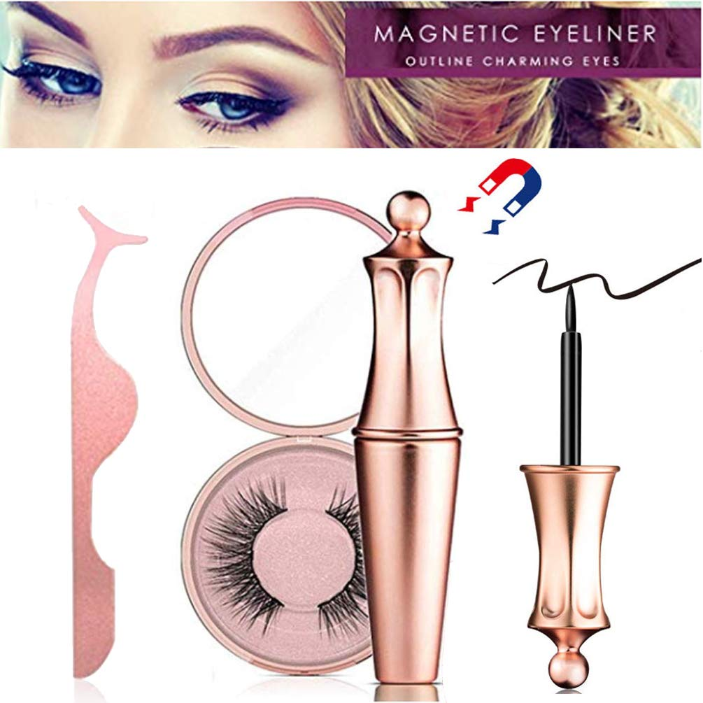 11cf460212f Amazon.com : Magnetic Eyeliner with Magnetic Eyelashes, Black Waterproof  Long Lasting Magnet Liquid Eyeliner for Applying Magnetic Eyelashes by  Firstfly ...