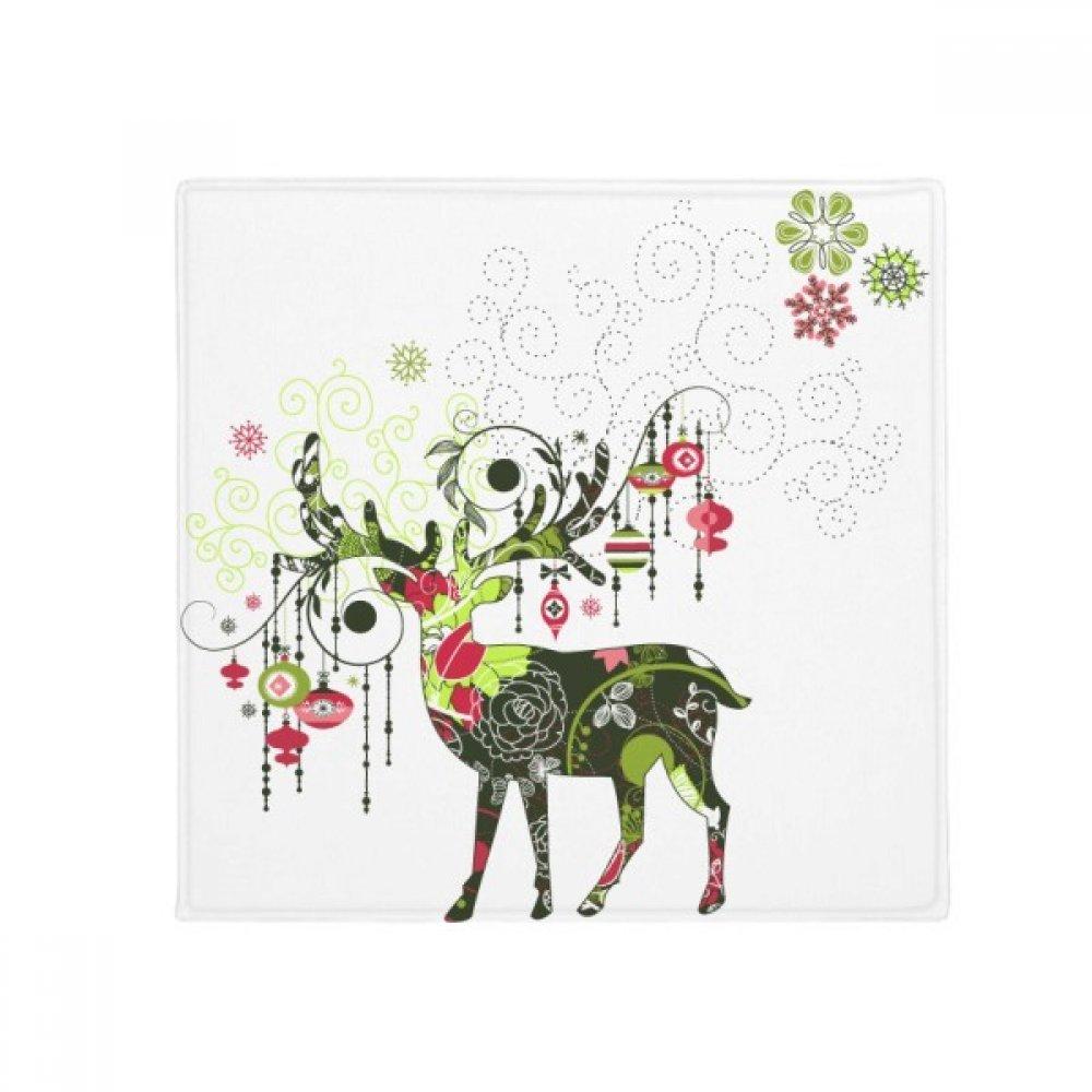 DIYthinker Snowflake Lantern Deer Anti-Slip Floor Pet Mat Square Home Kitchen Door 80Cm Gift