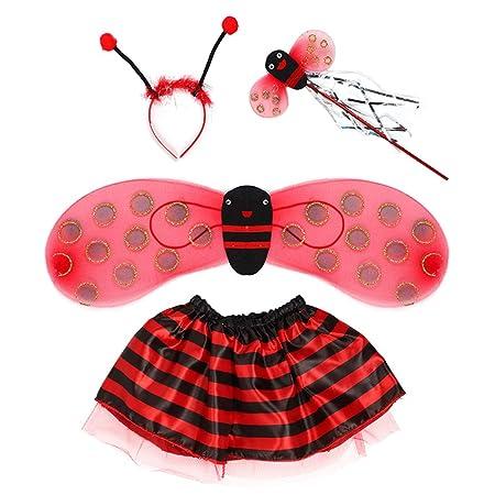 Gwxevce 4Pcs / Set Traje de Hada para niños Set Ladybird Bee ...