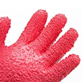 Tater Mitts, Lolldeal Potato Peeling Gloves, Pair of Waterproof Fish Scale Gloves, Red Vegetable Peeler, Kitchen Assistant Household Cleaning Gloves
