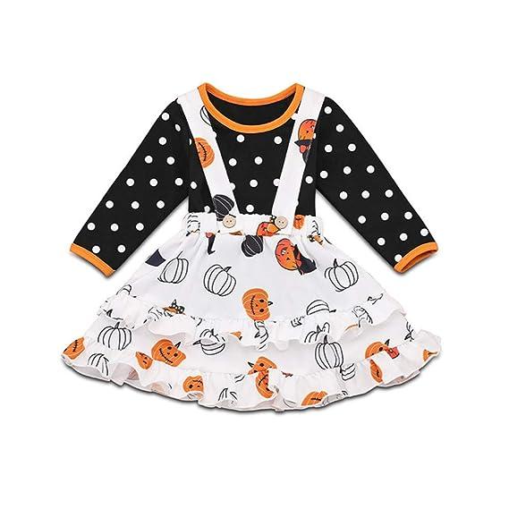Wang-RX Otoño Niños Bebé Niña Trajes de Halloween Ropa Polka Dot ...