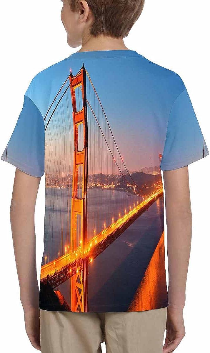 XS-XL INTERESTPRINT Golden Gate Bridge San Francisco Kids T-Shirt