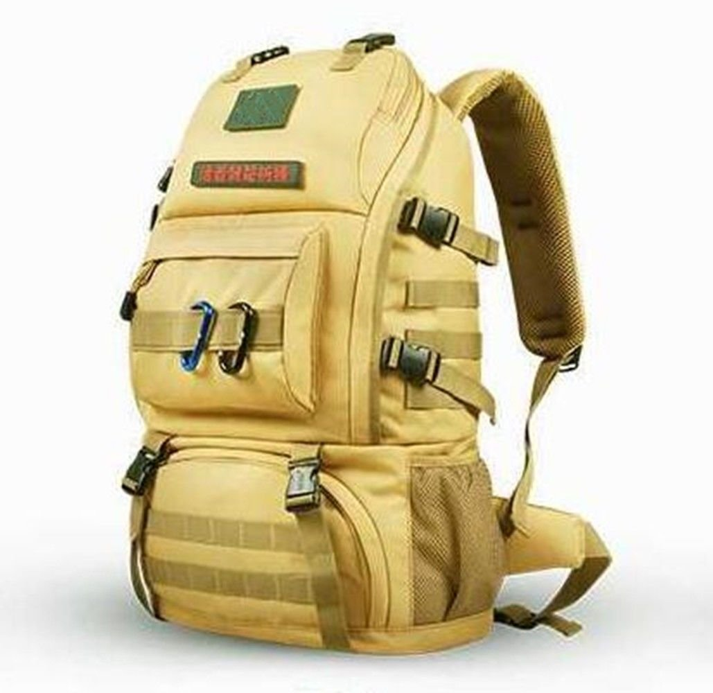 SHULING Outdoor Bergsteigen Tasche 50L Schulter Wandern Bag Male Reisetasche Multi-Kabine Design Multi-Funktions-Computer