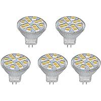 BesYouSel 5Pcs MR11 12V LED Light GU4 Bi-Pin Base 2W 20W Halogen Replacement, 3000K Warm White, 150LM for Home…