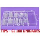 100 TIPS - uñas postizas color TRANSPARENTE - 10 tamaños diferentes.
