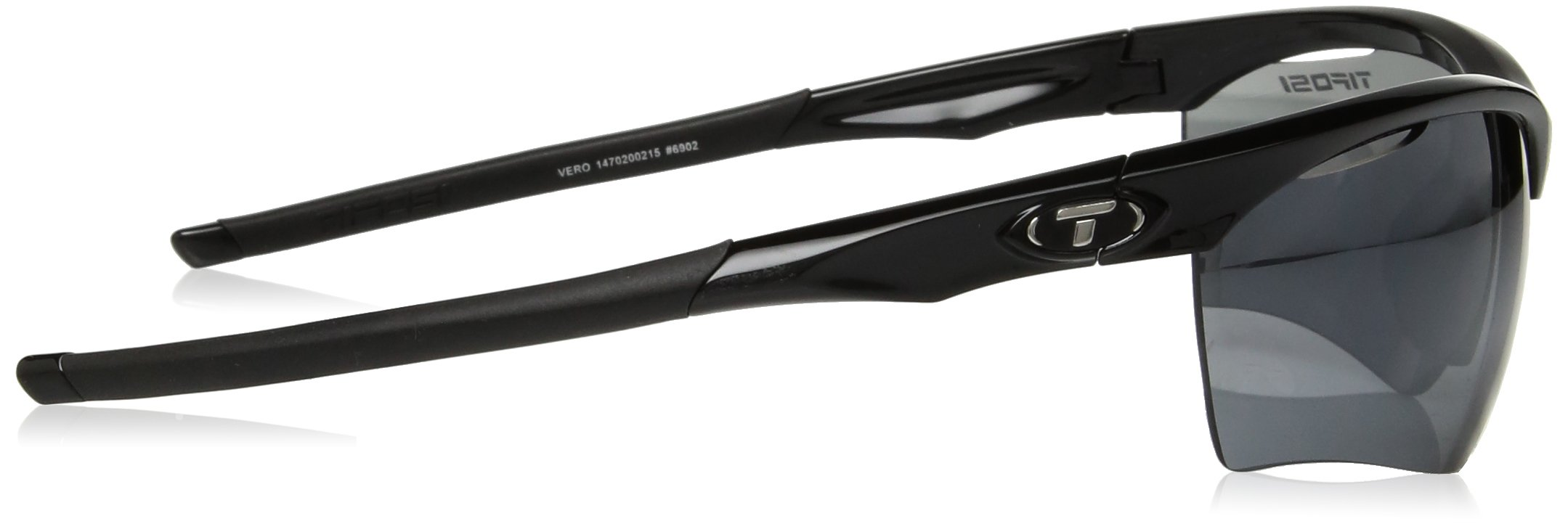 Tifosi Vero Wrap Sunglasses, Gloss Black, 63.8 mm by Tifosi (Image #3)