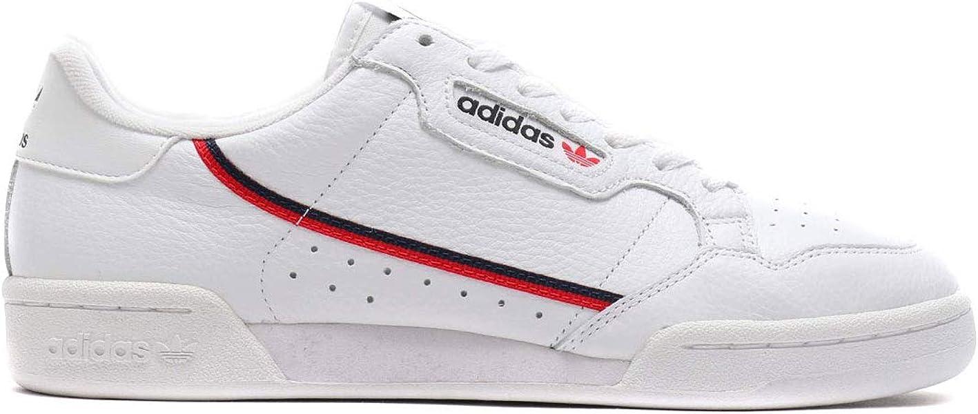 new arrivals c1008 ee9d4 adidas Originals Mens Continental 80 Sneaker WhiteScarletCollegiate Navy  7.5 Medium US