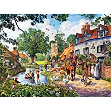 A Village Summer - Old Style Town Puzzle - 1000 pc Jigsaw Puzzle by SunsOut