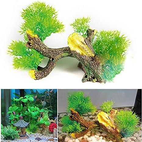 Calli árbol de los bonsai pecera decoración del acuario adorno pecera: Amazon.es: Hogar