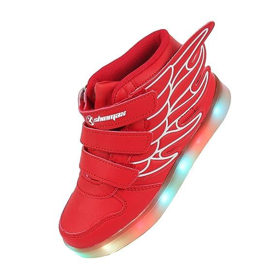 42 opinioni per Shinmax Scarpe LED Primavera-Estate Nuovo Lanciato Kid Led delle Scarpe da