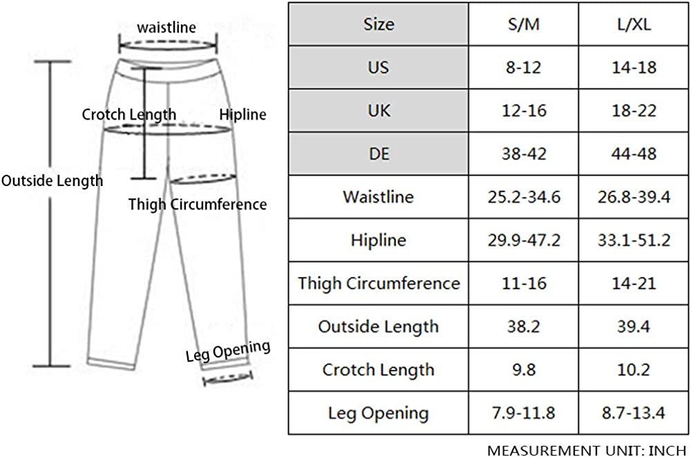 La Dearchuu Fleece Lined Leggings for Women Thick Warm Leggings Winter Thermal Leggings Bottoms for US 8-12