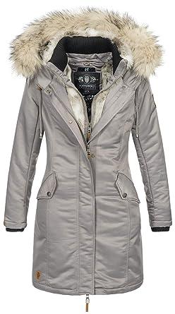Navahoo Damen Winter Jacke Parka Mantel Winterjacke warm Kunstfell Premium  B664  Amazon.de  Bekleidung 3630781d84