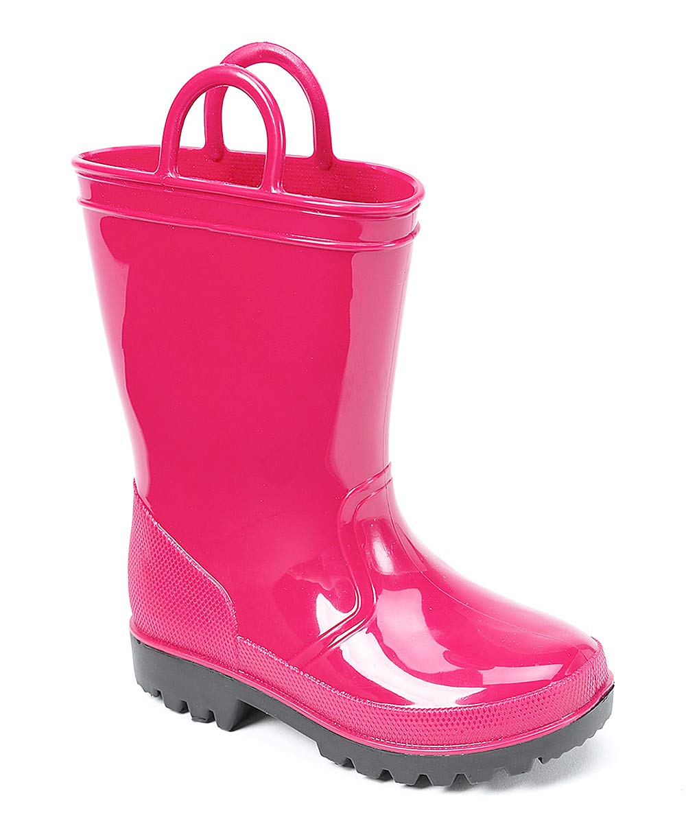 SkaDoo Pink with Black Sole Little Kid Youth Rain Boots 13 M US Little Kid