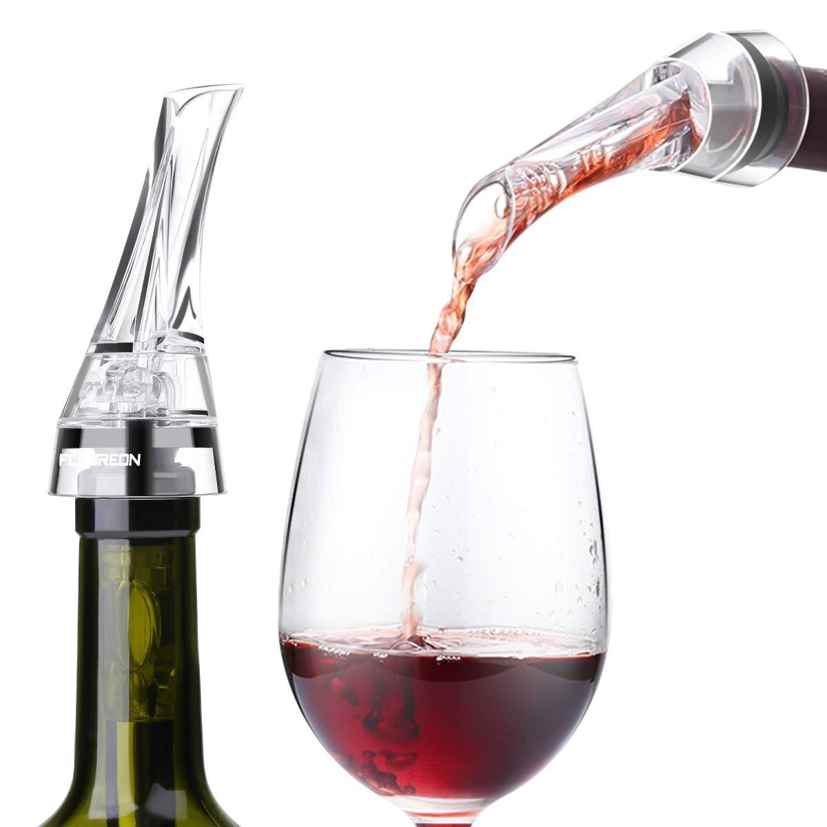 FLOUREON Weinausgießer Weinkühler Stab Weinbelüfter Chiller belüftend Pourer Flaschenausgießer