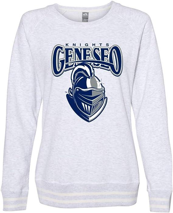 NCAA SUNY Geneseo PPGSUNY02 Womens Cropped Crew Fleece