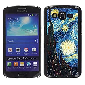 Design for Girls Plastic Cover Case FOR Samsung Galaxy Grand 2 Gogh Starry Night Art Painting OBBA