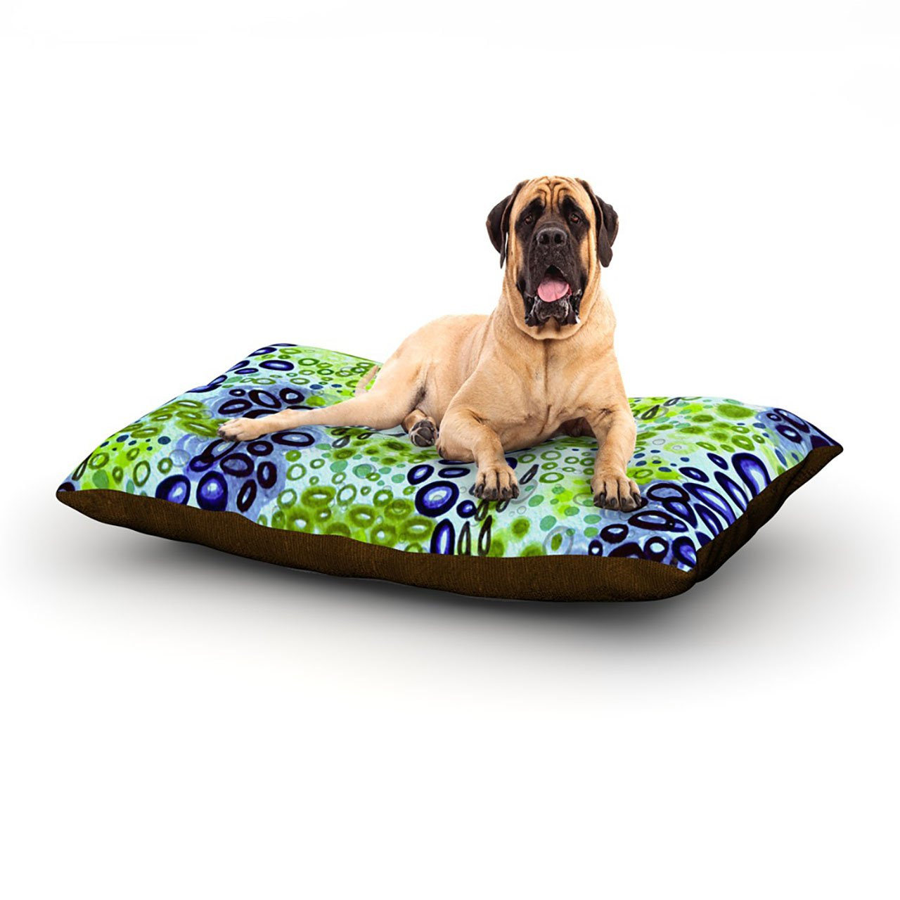 Circular Persuasion bluee Green X-Large 40\ Circular Persuasion bluee Green X-Large 40\ Kess InHouse Ebi Emporium Circular Persuasion bluee Green  Dog Bed, 50 by 60-Inch, Aqua Turquoise