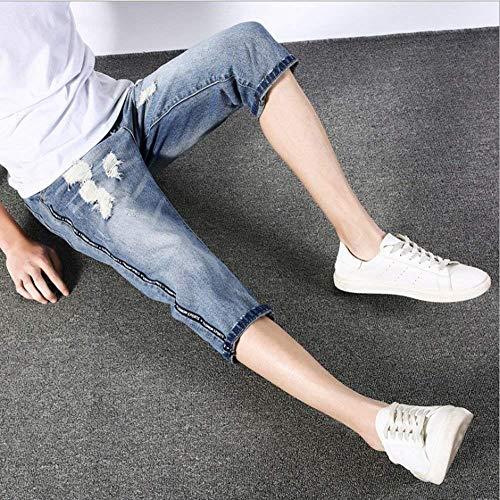 Ragazzi 3 Strappati Denim 4 Blu Uomo Da Pantaloni Fit R Hip Classiche Hop Jeans Slim Blau Stretch wqBdZIq